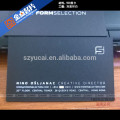 Silk screen embossing professional luxury business card printing printers