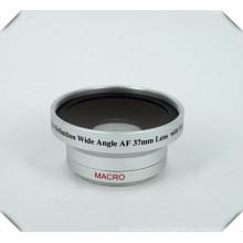 Lente larga super do ângulo da definição 0.45X de Digitas da alta definição de 37mm & lente macro para a câmera