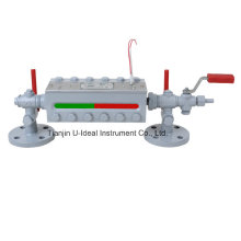 Indicateur de niveau d'eau bi-couleur de chaudière - Calibre de niveau de réservoir (B49H)