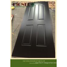 Peau de porte en mélamine noire MDF 3.6mm