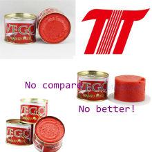 Vego Brand Tomato Paste Size 70g 28-30% Brix Tomato Paste Manufacturer