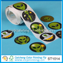 geschwollenes Logo selbstklebendes Aufkleberpapier