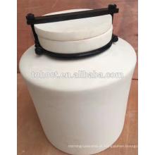 Porcelana 99--99.7% alta alumina moinho de bolas de cerâmica jarra de moagem com tampa