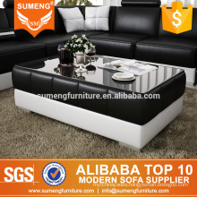 SUMENG guangzhou wood glass tea coffee table design