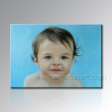 Pintura Handmade Do Retrato Do Bebê Da Foto