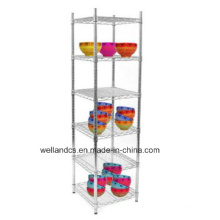 Adjustable Metal 5 Tiers Square Kitchen Dish Storage Rack