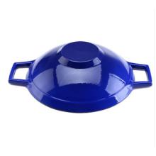 Amazon caliente vendiendo esmalte de hierro fundido wok
