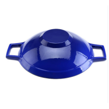 Amazon Hot Selling Enamel Cast Iron Wok