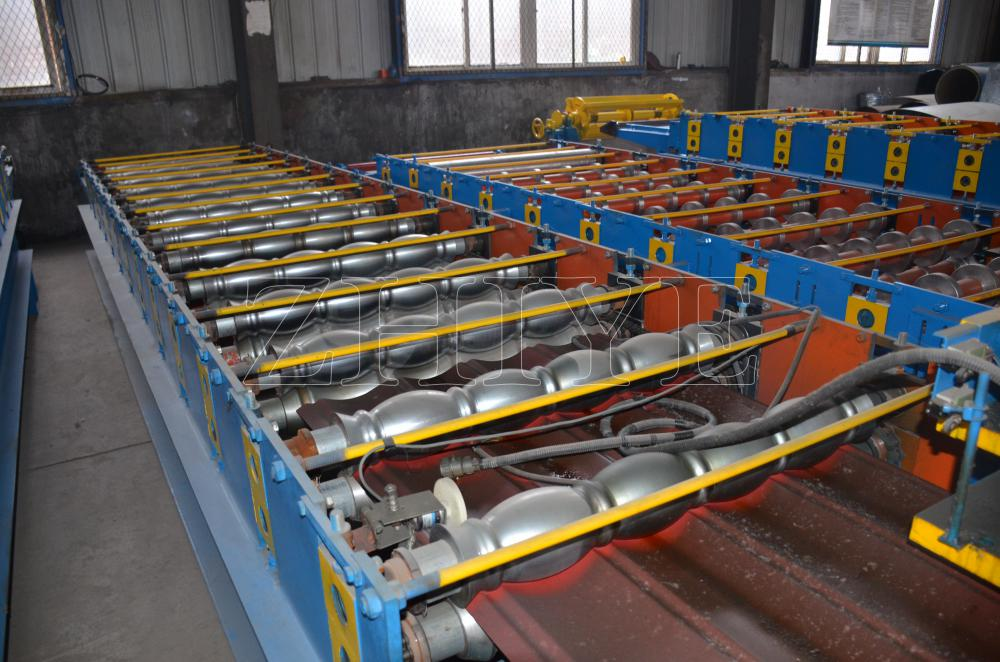 Cangzhou Glazed Tile Sheet Machine Πλήρως αυτόματο GI