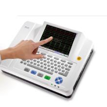 12 doze pistas canal ECG máquina eletrocardiógrafo ECG Holter Touchscreen Ce