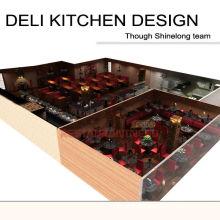 Conception personnalisée de cuisine de Deli de projet de Shinelong