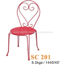 Metallmöbel - Stuhl Rot