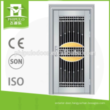 2017 Luxury design stainless steel door with low price