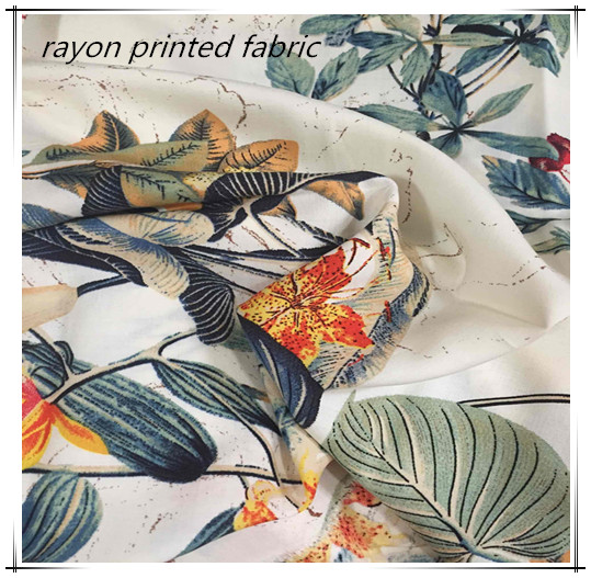 100 Rayon Printed Fabric For Women's Sleepwear