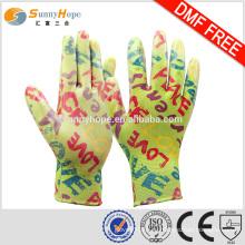 SUNNYHOPE 13gauge женские рукавные садовые перчатки