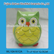 Decorative ceramic food container,ceramic owl jar for wholesale