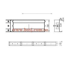 Volumn Control Dampler (VCD) Frame Roll Making Produção Fabricante da máquina Dubai
