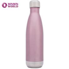 Kleine MOQ Porable 500 ml Cola Form Doppelwand Isolierte Edelstahl Wasserflasche