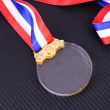Custom make crystal engraving medal