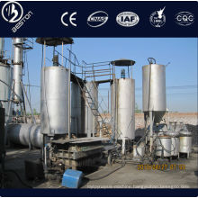 Auto continuously operating waste oil distillation plant