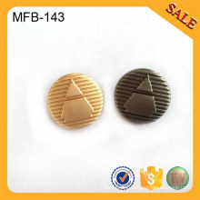 MFB143 2016 custom fancy alloy shank button for shirt,luxury garment branded logo buttons supply