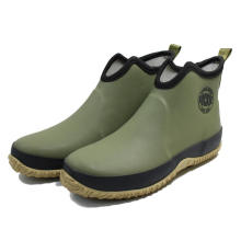 New design fashion luxury men outdoor pu leather solid color ankle rain boots winter rubber flat casual shoes for boys