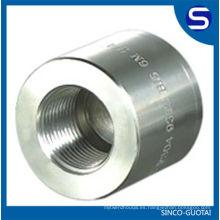 Instalación de alta presión / conexión de tubería de acero forjado / accesorios forjados de acero inoxidable ASME B16.11