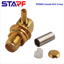STA Waterproof IP67 RPSMA Female right angle Crimp Cable Connector for RG174 178 316 Cable