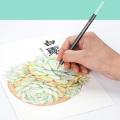 Andstal Standard 24 Oil Pastel Colored Pencil Set Watercolor Art Color Colored Pencils Professional for Art School Supplies