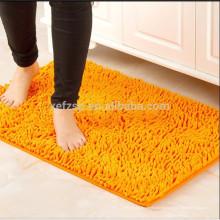laço de luxo de microfibra pilha chenille shaggy tapete de banho