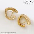 92044-Xuping Bijoux Fashion Dernière Conception 18K Plaqué Or Hoop Boucle D'oreille