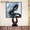 Escultura abstracta contemporánea contemporánea de encargo de la fábrica para la decoración casera