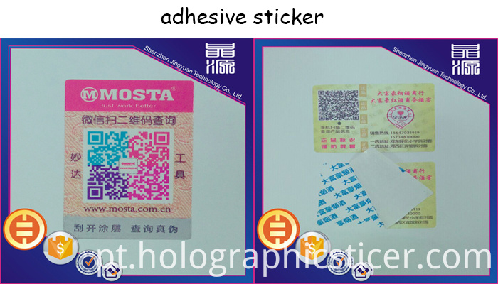 adhesive sticker