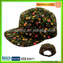 Floral Brim Custom 5 Panel Hut Muster Stil 0009