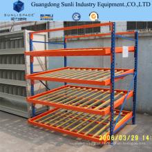 Cremalheira galvanizada da gravidade do armazenamento do rolo do aço resistente