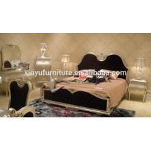 Europen rey soild muebles de madera de dormitorio de tela BD8014