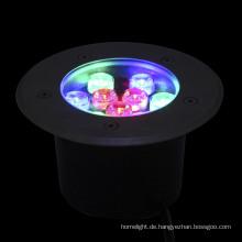 Shenzhen-Hersteller im Freien IP67 RGB 9W LED Inground Light