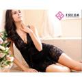 Black Lace Edge Transparent lingerie dress