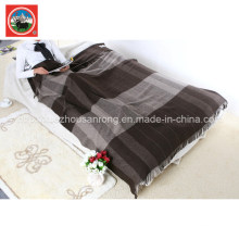 Yak Wool Striped Blanket/Cashmere Fabric/Camel Woo Textile/Bed Sheet/Bedding