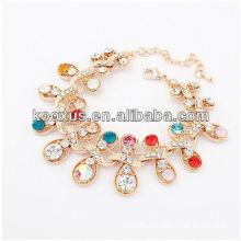 Nuevos productos 2014 cadena brazalete pulsera brazaletes pulsera brazalete de aleación de los encantos
