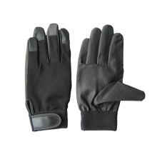 PU Palm Spandex Back Mechanic Glove-7401
