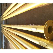polo integrado de la luz de calle de la energía solar de la fábrica de oro