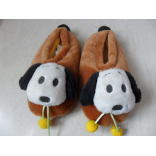 Échantillon gratuit en peluche chiot Emoji Slipper Hot Wholesale