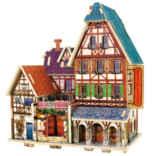 Wood Collectibles Toy for Global Houses-France Hôtel