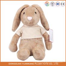 ICTI stuffed custom rabbit tshirt animal plush toys wholesale