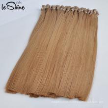 Extensions de cheveux I-Tip blanc de haute qualité Remy cheveux humains Nano / V / U / pointe plate blanc