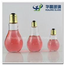 Bouteilles de verre 100ml 250ml 400ml Ampoule forme boisson