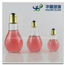 100ml 250ml 400ml Bulb Shape Beverage Glass Bottles