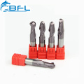 BFL Metal Milling Solid Carbide Ball Nose Cutter Tool For CNC Lathe