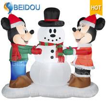 Надувные рождественские украшения Украшения Реклама Надувная новогодняя мультяшная героиня